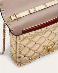 Valentino Garavani Small Rockstud Spike Metallic Nappa Chain Bag