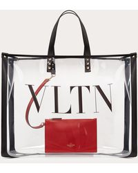 Valentino Garavani Vltn Plexy Shopping Bag - Red