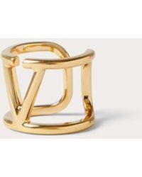 Valentino Garavani Valentino Garavani Vlogo Signature Metal Ring - Metallic