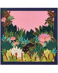 """Valentino Garavani Valentino Garavani foulard 90 x 90 cm aus seidentwill mit print """"panther in the giungle"""" - Pink"""
