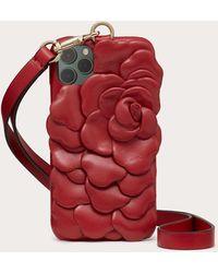 Valentino Garavani Funda Para Iphone 12 Mini Atelier Slg 03 Rose Edition - Rojo