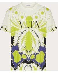 Valentino T-shirt Girocollo Stampa World Arazzo E Vltn Cloud/multicolor Cotone 100% XS - Multicolore