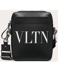 Valentino Garavani Small Leather Vltn Crossbody Bag - Black