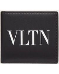 Valentino - Garavani コレクション ブラック Vltn ウォレット - Lyst