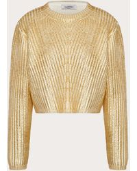 Valentino Jersey De Lana Gold - Metálico