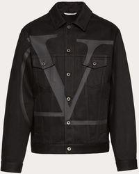 Valentino デニムジャケット - ブラック