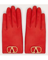 Valentino Garavani Valentino garavani guantes vlogo - Rojo