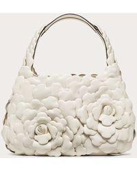 Valentino Garavani Kleine Hobo-bag Atelier Bag 03 Rose Edition - Weiß