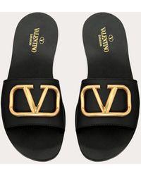 Valentino Palas Go Logo de piel - Negro