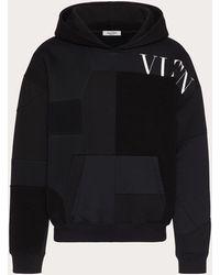 Valentino Valentino Vltn コットンパッチワーク スウェットシャツ - ブラック