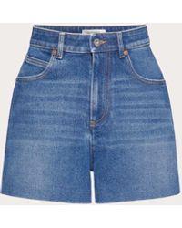 Valentino Denim Shorts - Blue