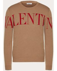 Valentino Jersey De Cuello Redondo Con Estampado - Marrón