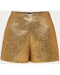 Valentino Pantalones Cortos De Gold Matelassé Vgold - Metálico