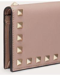 Valentino Rockstud Leather Wallet - Multicolour