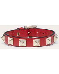 Valentino Garavani Bracelet Rockstud Gavarani - Rouge