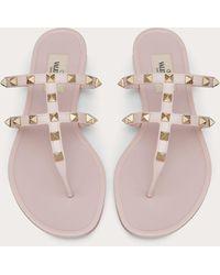 Valentino Garavani Valentino Garavani Rockstud Flat Rubber Sandal - Multicolor