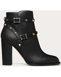 Valentino Garavani Rockstud Ankle Boot 100 Mm - Black