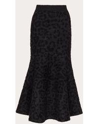 Valentino Mohair Wool Polyamide Skirt - Gray