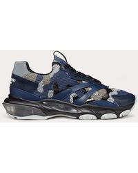 Valentino Camouflage Bounce Trainers - Blue