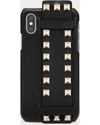 Valentino Garavani Garavani Cover Compatibile Con Iphone X/xs Rockstud In Vitello - Nero