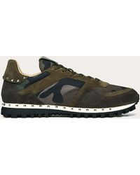 Valentino - Camouflage Studded Sneaker - Lyst
