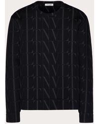 Valentino Vltn タイムズ クルーネック スウェットシャツ - ブラック