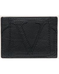 Valentino Garavani Porte-cartes Vlogo Signature - Noir