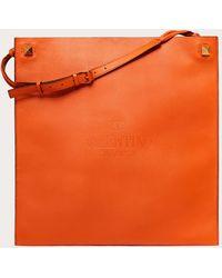 Valentino Garavani Bolso Shopper Identity De Piel - Naranja
