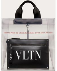 Valentino Valentino Garavani Cabas Vltn Transparent - Noir