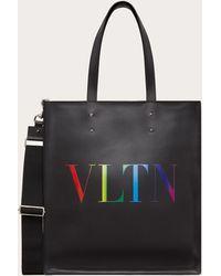 Valentino Garavani Bolso Shopper Vltn De Piel - Negro
