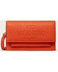 Valentino Garavani Portefeuille Identity - Orange