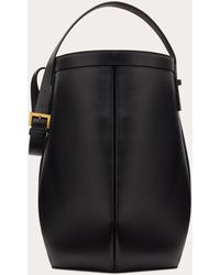 Valentino Calfskin Hobo Bag - Black