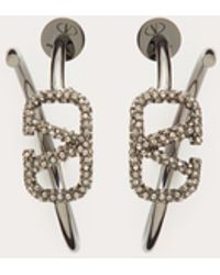 Valentino Garavani Vlogo Signature Metal Earrings - Metallic
