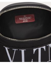 Valentino Valentino Garavani Gürteltasche Aus Nylon Mit Vltn-bändern - Schwarz