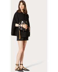 Valentino Rose Blossom Jersey Sweatshirt - Black