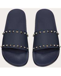 Valentino Garavani Valentino garavani sandalidas de pala rockstud de goma - Azul