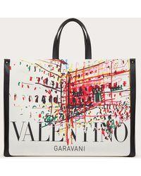 Valentino Garavani Valentino Garavani Large Roman Sketches Canvas Tote Bag - Multicolour