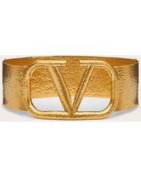 Valentino Garavani Valentino garavani cinturón vlogo signature de metal de 70 mm - Metálico