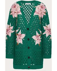 Valentino - Embroidered Cotton Cardigan - Lyst