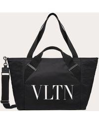 Valentino Valentino Garavani Small Nylon Vltn Travel Bag - Black