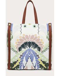 Valentino Garavani Bolso Shopper De Lona Con Estampado World Arazzo - Multicolor