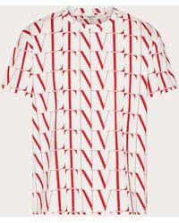 Valentino Valentino Vltnタイムズ コットン Tシャツ - レッド