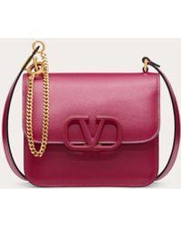 Valentino Small Vsling Shiny Calfskin Shoulder Bag - Pink