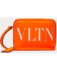 Valentino Garavani Neonfarbenes Portemonnaie Zum Umhängen Vltn - Orange