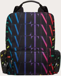 Valentino - Vltn Times Multicolor ナイロン バックパック - Lyst