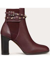 Valentino Rockstud Boots Rubin - Red