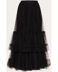 Valentino - Flounce Tulle Skirt - Lyst