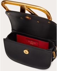 Valentino Garavani Small Supervee Calfskin Crossbody Bag - Black