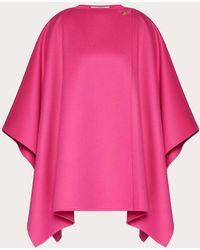 Valentino Compact Drap Cape - Pink