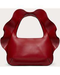 Valentino Garavani Bolso Hobo Pequeño Atelier Bag 04 Rouches Edition - Rojo